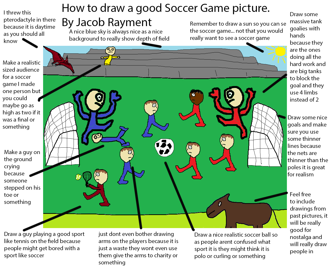 how to draw a soccer